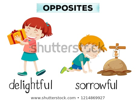 English opposite word of delightful and sorrowful Stock photo © bluering