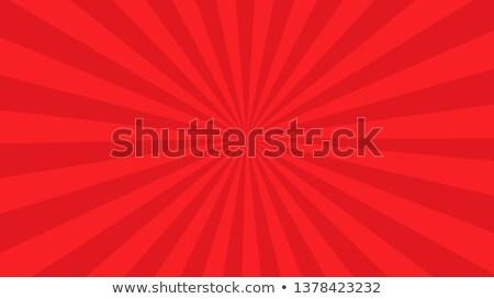 Red Sunburst Banner Stock photo © barbaliss