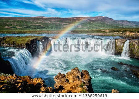 Islande cascade naturelles attraction touristique paysage cascade Photo stock © Kotenko