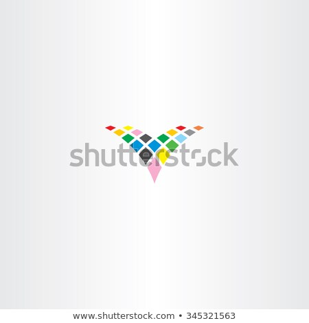 colorful letter v halftone vector icon element Stock photo © blaskorizov