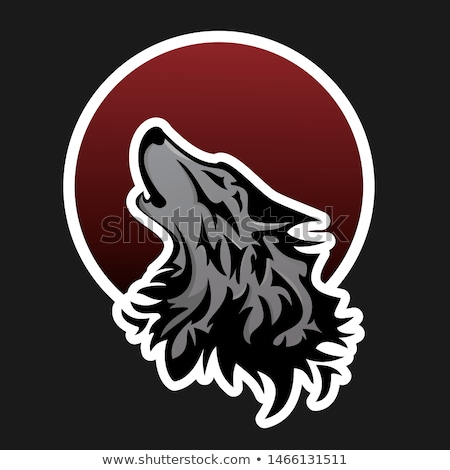 wolf moon vector logo icon Stock photo © blaskorizov