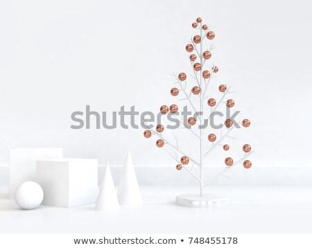 Resumen cobre árbol forma círculo ilustración Foto stock © cienpies