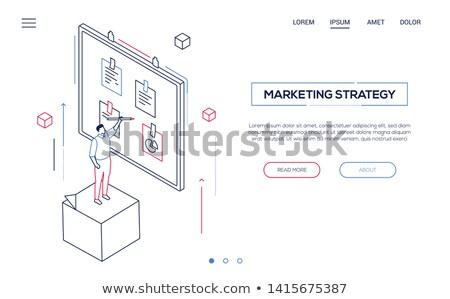 business · onderzoek · moderne · isometrische · vector · web - stockfoto © decorwithme