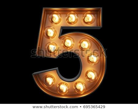Altın numara beş 3D 3d render örnek Stok fotoğraf © djmilic