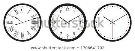 establecer · edad · vintage · reloj · ilustración · cara - foto stock © IvanDubovik