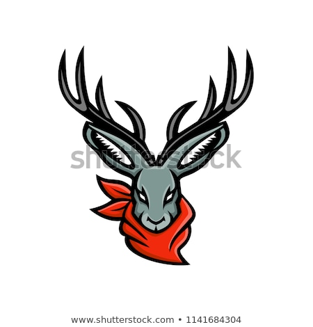 Jackalope Wearing Bandanna Mascot Stock photo © patrimonio