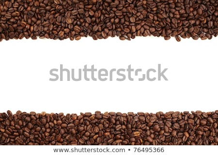 Stock fotó: White Stripe Within Brown Roasted Coffee Beans