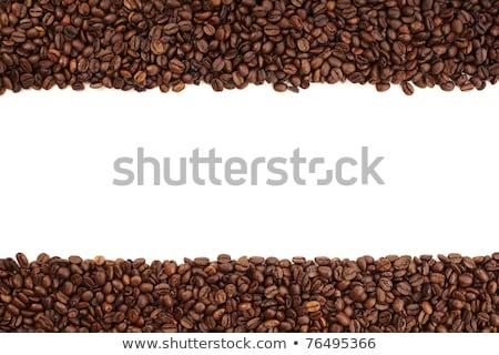 White stripe within brown roasted coffee beans stock photo © kayros