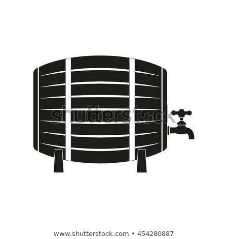 Beer Storage Wooden Barrel Vector Illustration Stock photo © robuart