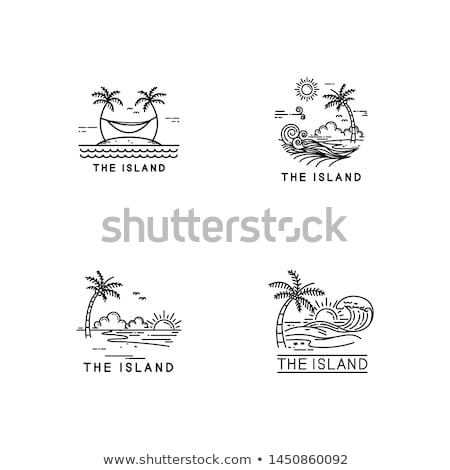 tropical island beach vacation sign symbol Stock photo © vector1st
