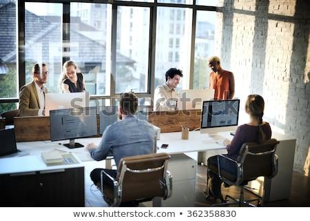 zakenman · computer · werken · internet - stockfoto © dolgachov