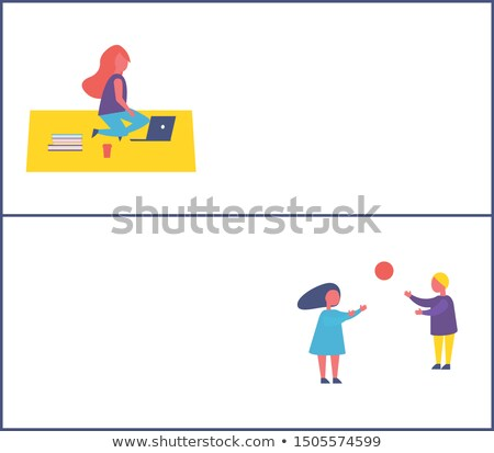 papírzsebkendő · papír · csíny · illusztráció · gyerekek · játszanak · gyerekek - stock fotó © robuart