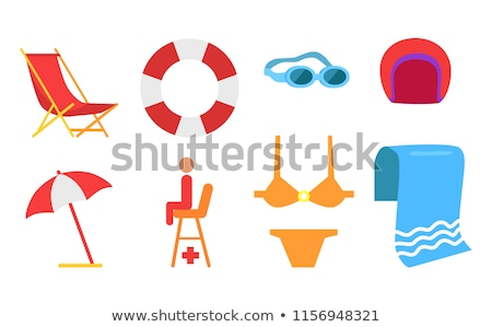 Seat of Lifesaver on Beach Vector Cartoon Icon Stock photo © robuart