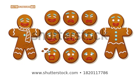 сердиться Cartoon Колобок иллюстрация глядя десерта Сток-фото © cthoman