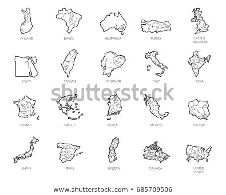 Finlandiya logo harita ikon vektör simge Stok fotoğraf © blaskorizov