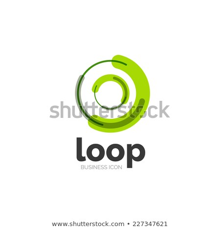 green circle looped spiral icon logo abstract background Stock photo © blaskorizov