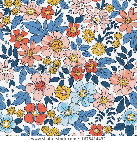 Floral seamless pattern. Garden Flower bouquet background Stock photo © Terriana