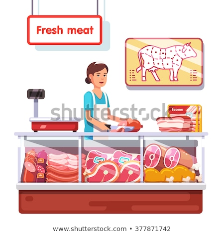 isolated fresh meat stall stock photo © bluering
