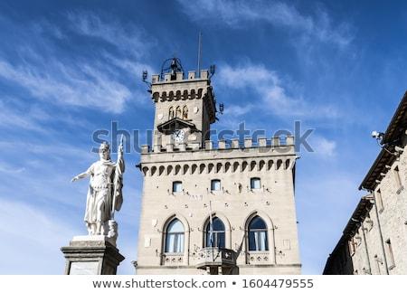 Szobor hörcsög nyilvános palota San Marino kilátás Stock fotó © boggy