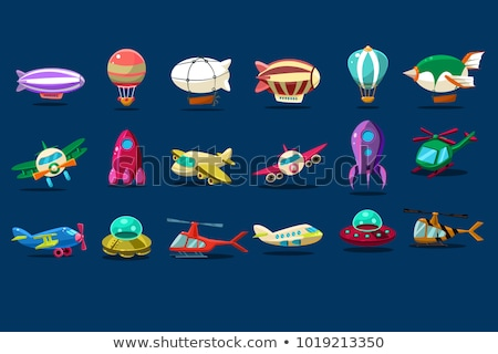 differences game with plane and balloon stock photo © izakowski