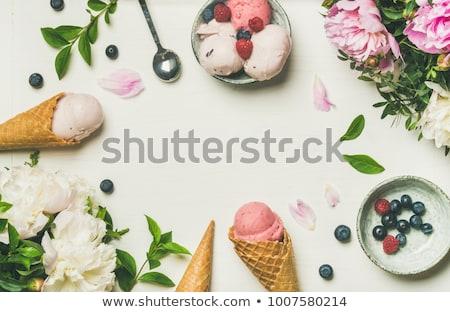 花束 ピンク カーネーション 光 ターコイズ 木製 ストックフォト © Melnyk