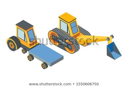 Excavator and Transport with Cargo Place Belt Stock photo © robuart