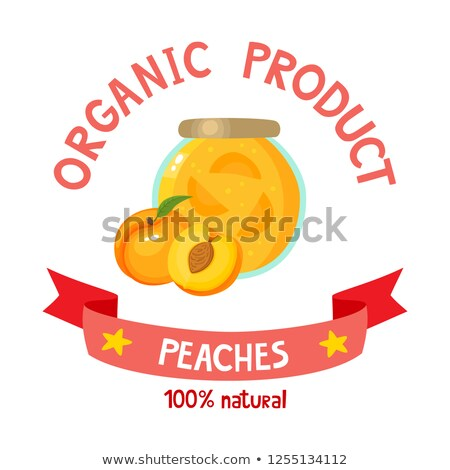 Canned Peaches in Jar Poster Vector Illustration Stock photo © robuart