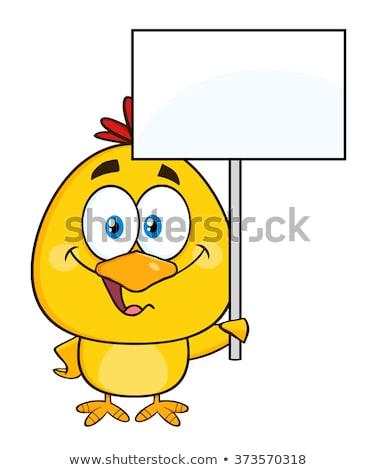 улыбаясь желтый куриного Христос воскрес Сток-фото © hittoon
