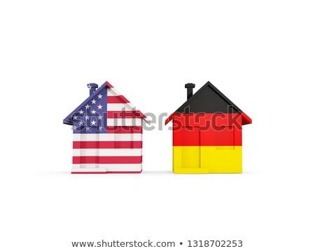 Due case bandiere Germania Stati Uniti isolato Foto d'archivio © MikhailMishchenko