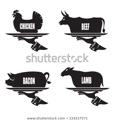 Meat Steaks and Chicken, Lamb or Pig Legs in Tray Stock photo © robuart
