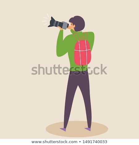 Kareraman elvesz fotó berendezés zoom vektor Stock fotó © robuart