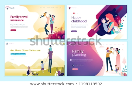 Background template with happy family stock photo © colematt