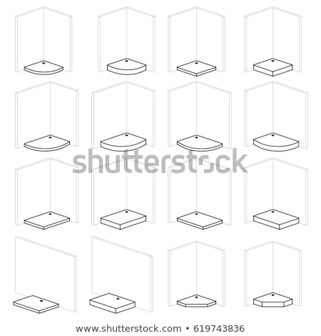 Shower trays, paddling pool bathroom installation and montage solutions, pictogram types  Stock photo © ukasz_hampel