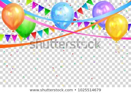 Colorido grinalda balão isolado transparente gradiente Foto stock © barbaliss