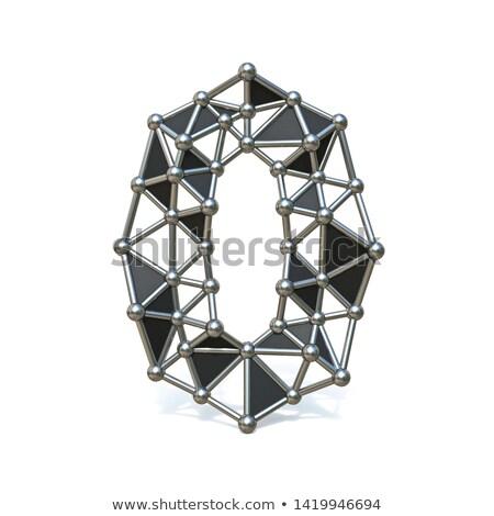 czarno · białe · numer · dziewięć · 3D · 3d - zdjęcia stock © djmilic
