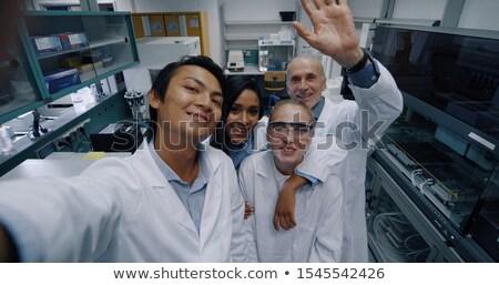 Tıbbi bilim adamları memnun sonuç deney pozitif Stok fotoğraf © pressmaster