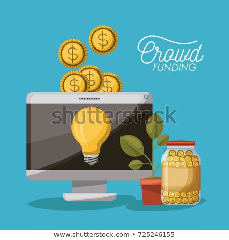 crowdfunding charity project with computer screen stock photo © robuart