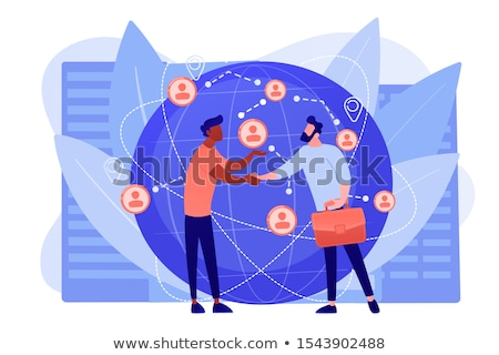 Collaborative logistics concept vector illustration Stock photo © RAStudio