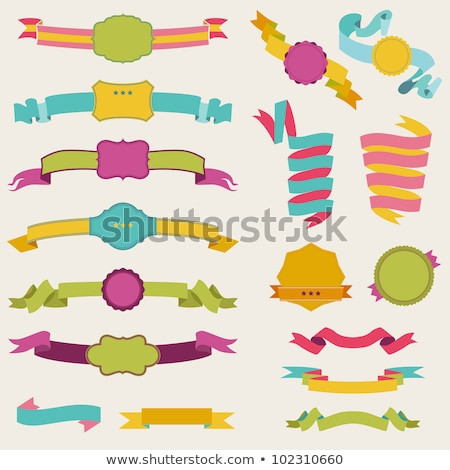 Color Classical Promotional Title Ribbon Vintage Vector Stock photo © pikepicture