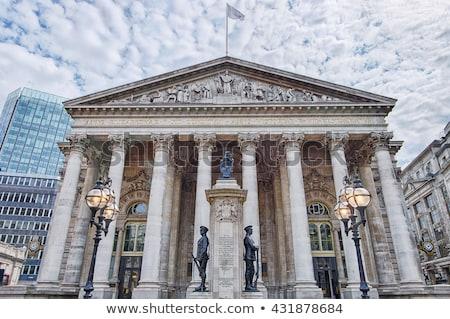 London tőzsde épület tér katedrális város Stock fotó © vichie81