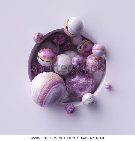 golden sphere with pile of white spheres 3d-illustration Stock photo © Wetzkaz