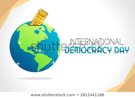 Szabadság világ világszerte demokrácia pecsét papír Stock fotó © olivier_le_moal