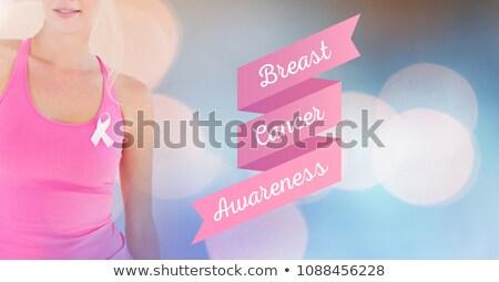 Szöveg mellrák tudatosság nő átalakulás digitális kompozit Stock fotó © wavebreak_media