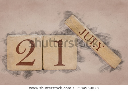 Rood twintig eerste witte tabel Stockfoto © Oakozhan