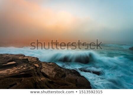 Сток-фото: туманный · Восход · Сидней · побережье · морской · пейзаж · морем
