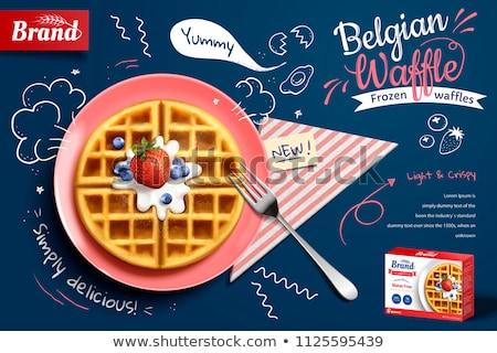 vector belgian waffles  Stock photo © freesoulproduction