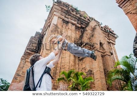 Père fils touristes Viêt-Nam papa Photo stock © galitskaya