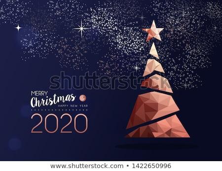 Natale capodanno rame pino carta allegro Foto d'archivio © cienpies