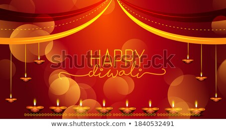 beautiful happy diwali festival background in golden color Stock photo © SArts