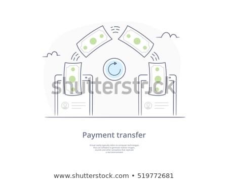 Transferência de dinheiro usuário dinheiro moeda teia bandeira Foto stock © benzoix